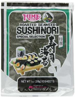 HIME: Sushinori Roasted Seaweed Sheets, 10 sheets - Vending Business Solutions