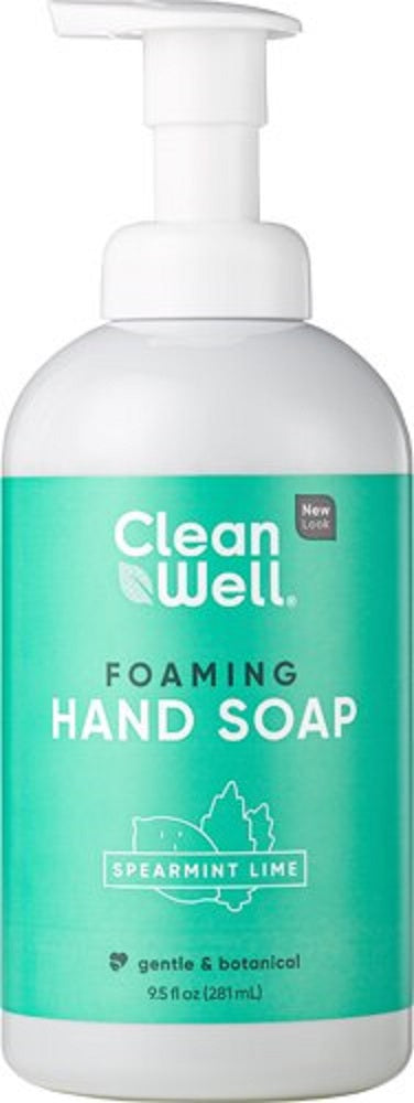 CLEANWELL: Spearmint Lime Foaming Hand Soap, 9.5 oz - Vending Business Solutions