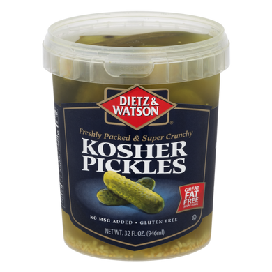DIETZ AND WATSON: Kosher Pickles, 32 oz - Vending Business Solutions