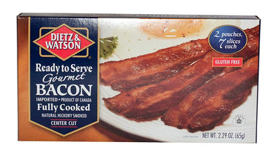 DIETZ AND WATSON: Fully Cooked Gourmet Bacon, 2.29 oz - Vending Business Solutions