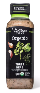 BOLTHOUSE FARMS: Organic Three Herb Vinaigrette Dressing, 12 oz - Vending Business Solutions