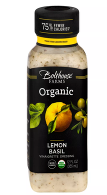 BOLTHOUSE FARMS: Organic Lemon Basil Vinaigrette Dressing, 12 oz - Vending Business Solutions