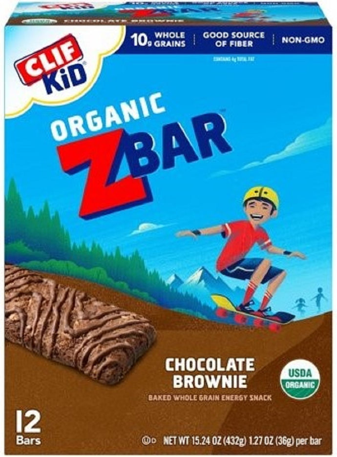 CLIF KID: ZBar Chocolate Brownie 12 Bars, 15.24 oz - Vending Business Solutions