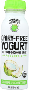 HARMLESS HARVEST: Dairy-Free Yogurt Drink Original Unsweetened, 8 oz - Vending Business Solutions