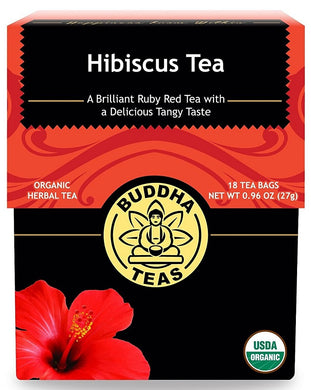 BUDDHA TEAS: Hibiscus Tea, 18 bag - Vending Business Solutions