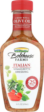 BOLTHOUSE: Italian Vinaigrette Dressing, 14 oz - Vending Business Solutions
