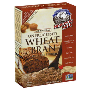 HODGSON MILL: Unprocessed Wheat Bran, 14 oz - Vending Business Solutions