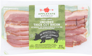 APPLEGATE: Uncured Thick Cut Bacon, 12 oz - Vending Business Solutions