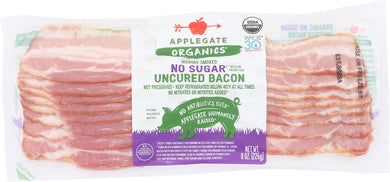 APPLEGATE: Organic No Sugar Uncured Bacon, 8 oz - Vending Business Solutions
