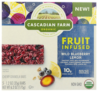 CASCADIAN FARM ORGANIC: Fruit Infused Wild Blueberry Lemon, 6.20 oz - Vending Business Solutions