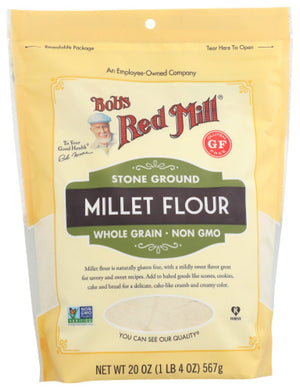 BOB'S RED MILL: Stone Ground Millet Flour, 20 oz - Vending Business Solutions