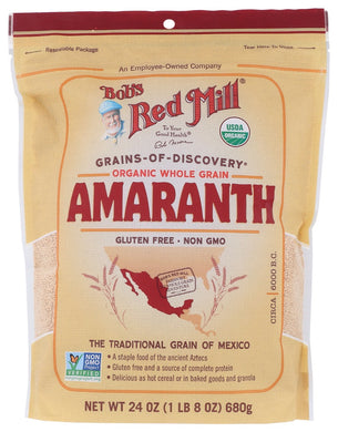 BOB'S RED MILL: Organic Whole Grain Amaranth, 24 oz - Vending Business Solutions
