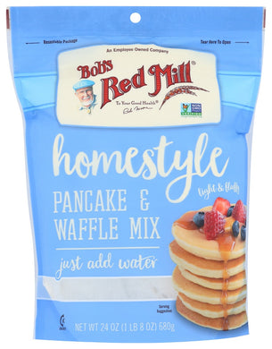 BOB'S RED MILL: Homestyle Pancake & Waffle Mix, 24 oz - Vending Business Solutions