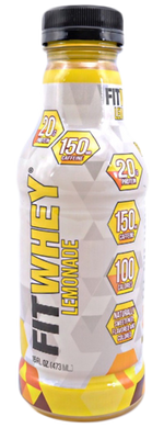 FITWHEY: Energy Protein Drink Lemon, 16 oz - Vending Business Solutions