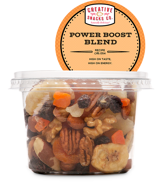 CREATIVE SNACK: Power Boost Blend Trail Mix Cup, 9.5 oz - Vending Business Solutions