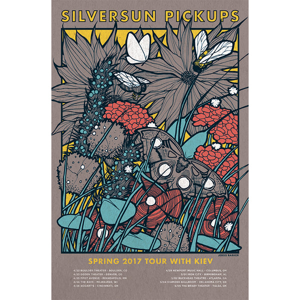 Purple 2017 Spring Tour Red Poster With Kiev
