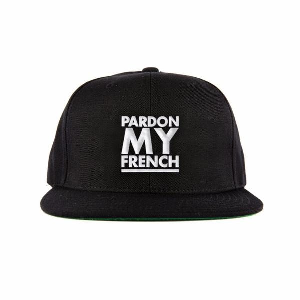 PARDON MY FRENCH SNAPBACK - BLACK