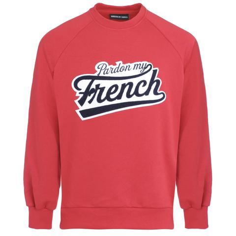 SWEAT CREW NECK COLLEGE RED