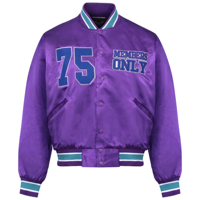 PARDON MY FRENCH PURPLE BOMBER JACKET