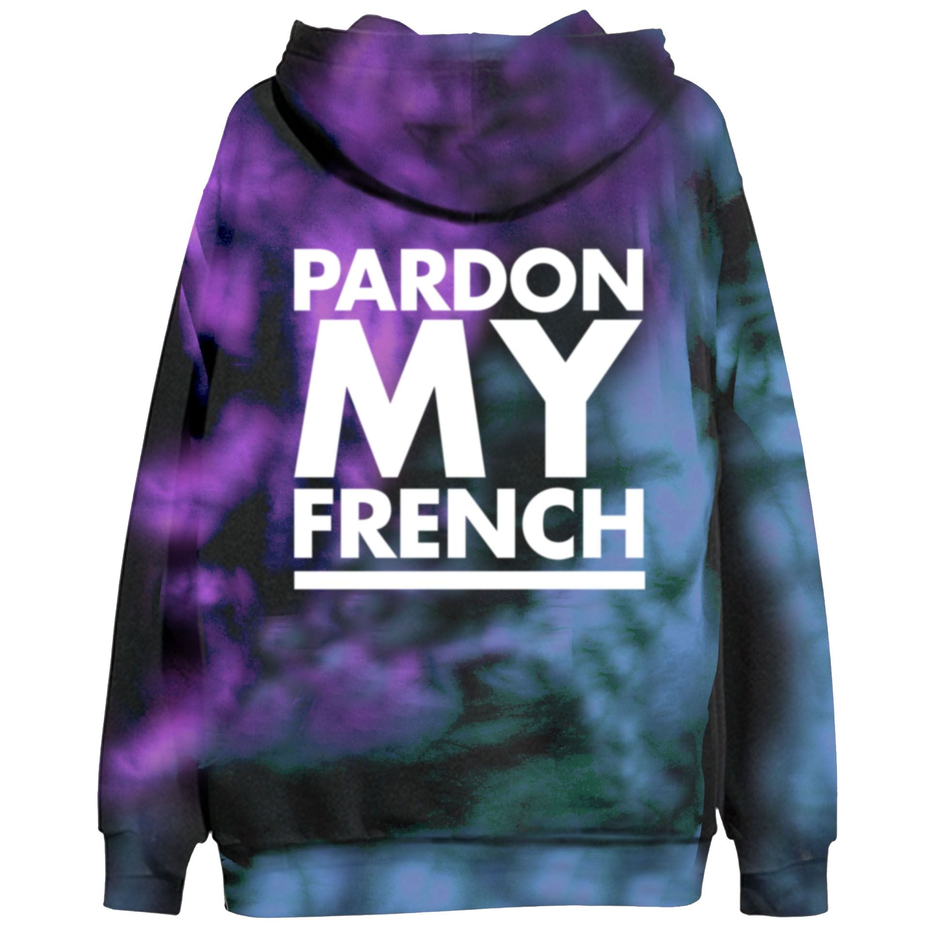 Pardon My French TIEDYE Hoodie - White Logo