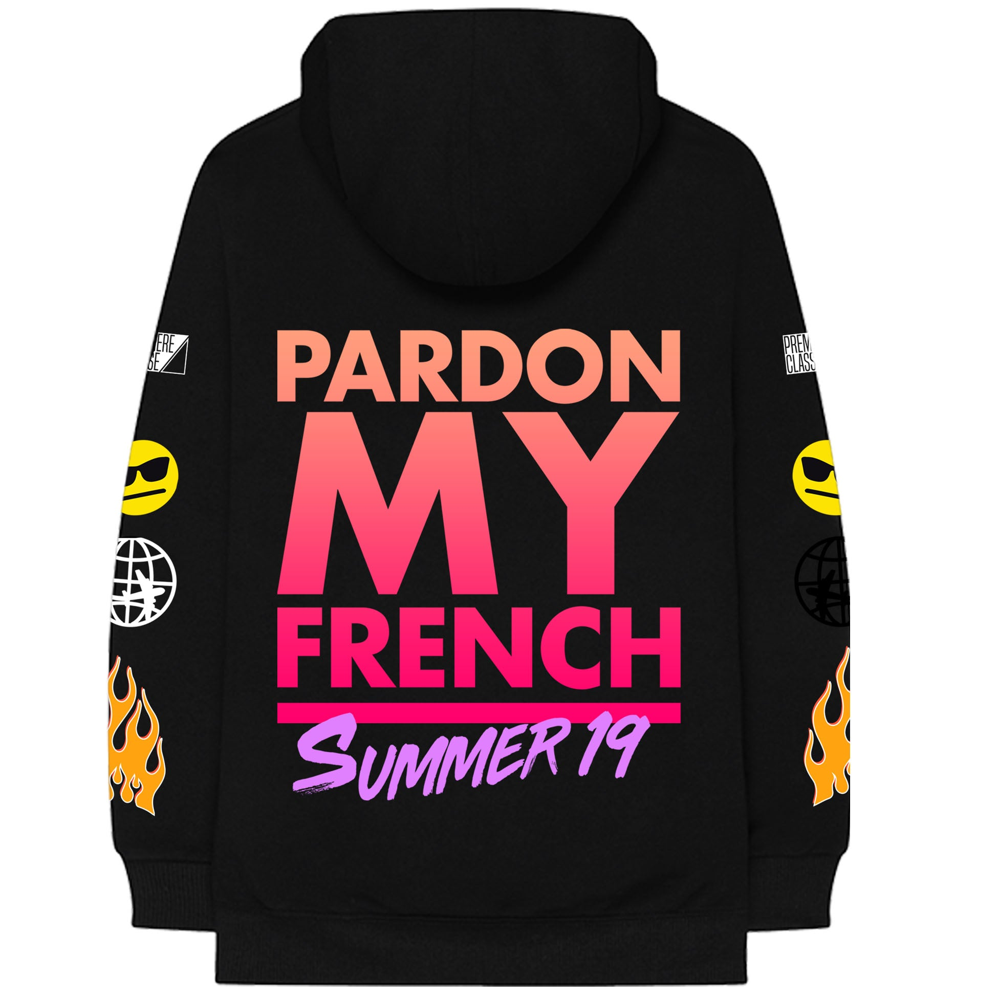 PARDON MY FRENCH SUMMER 19 BLACK HOODIE