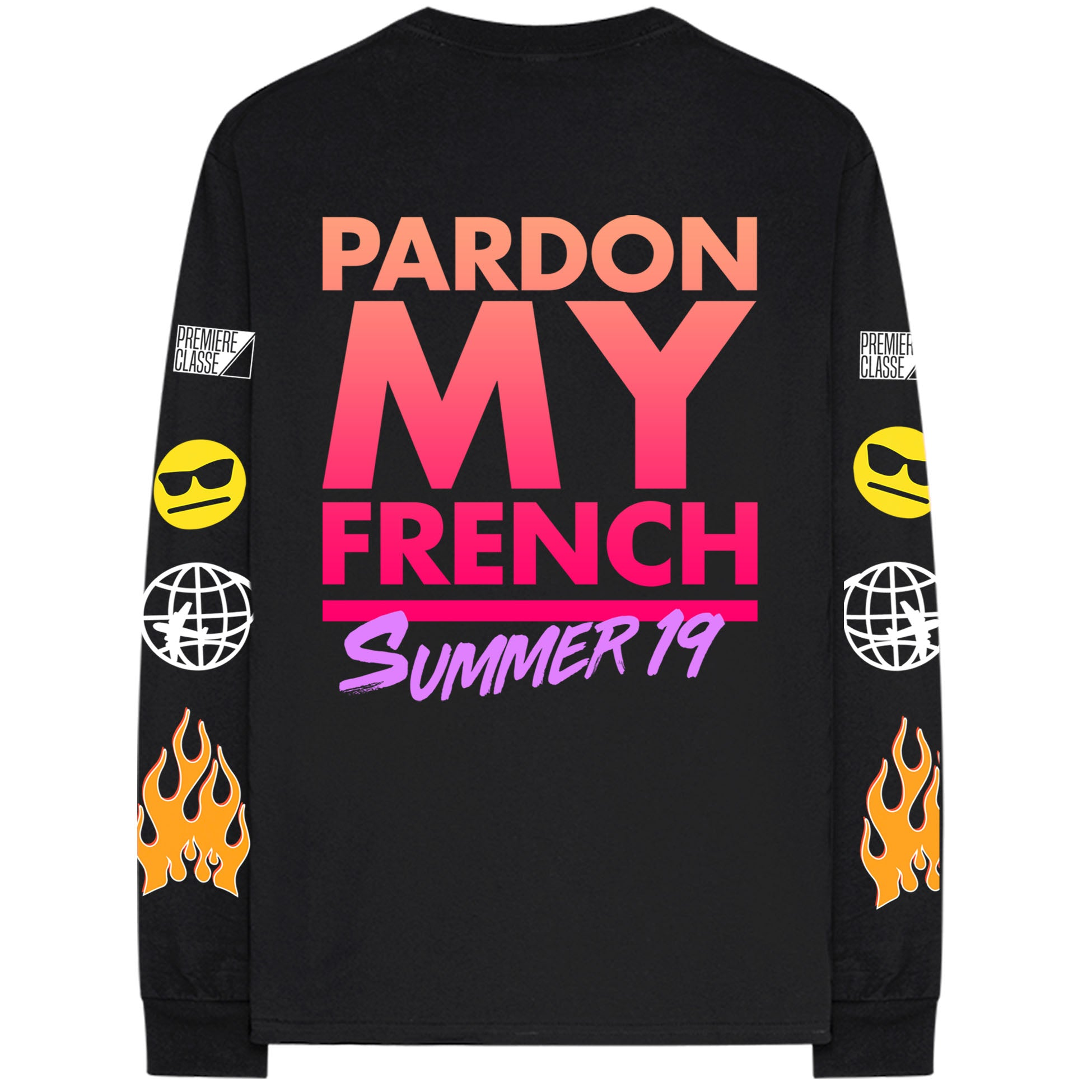 PARDON MY FRENCH SUMMER 19 BLACK L/SLEEVES TSHIRT