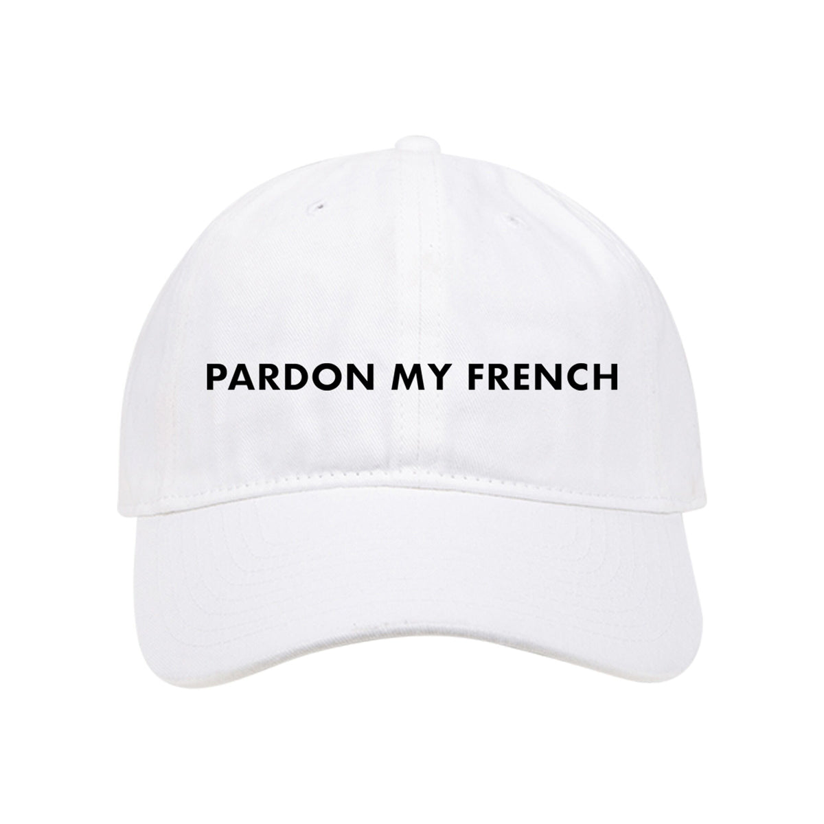 PARDON MY FRENCH WHITE CAP