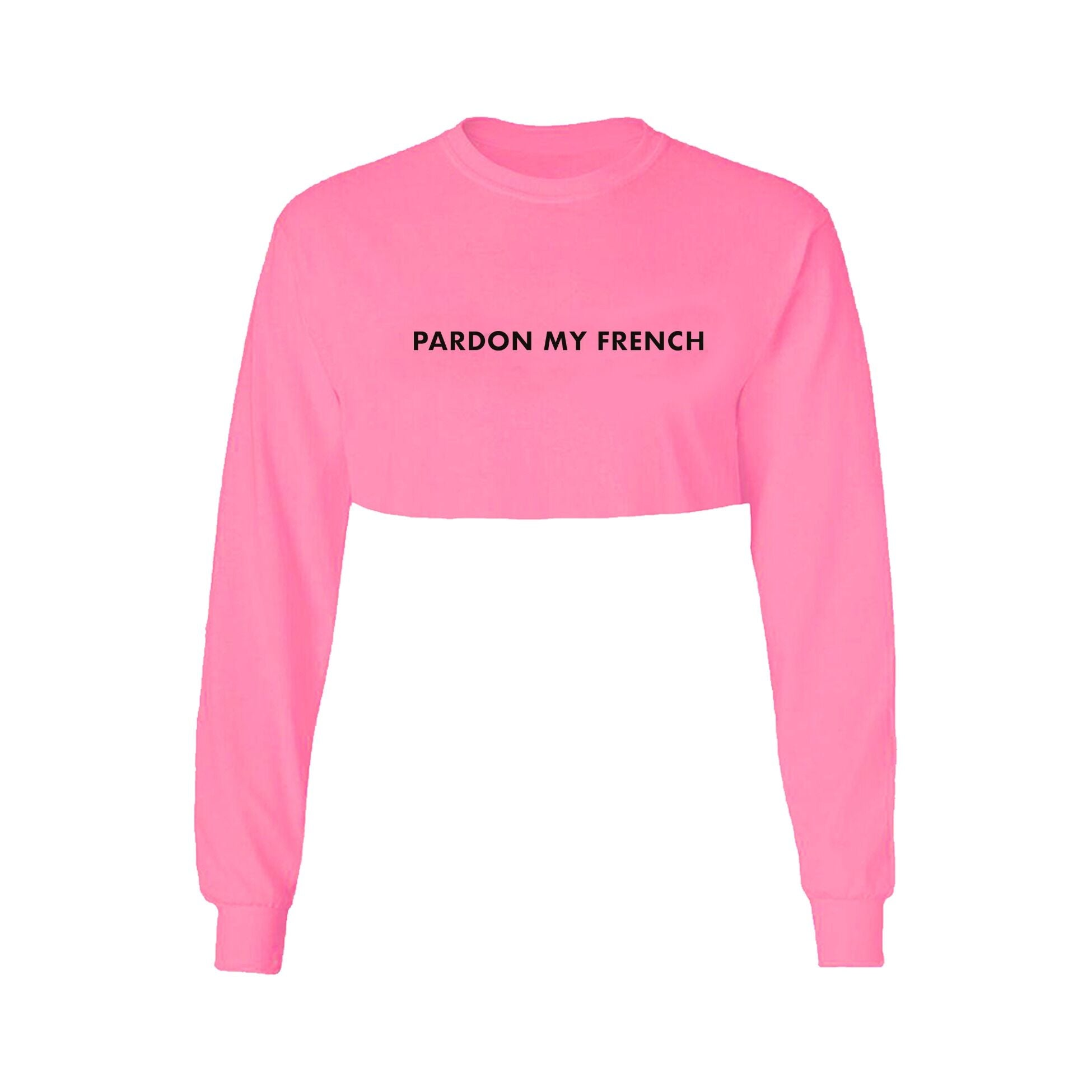 CROPTOP LONG SLEEVES NEON PINK