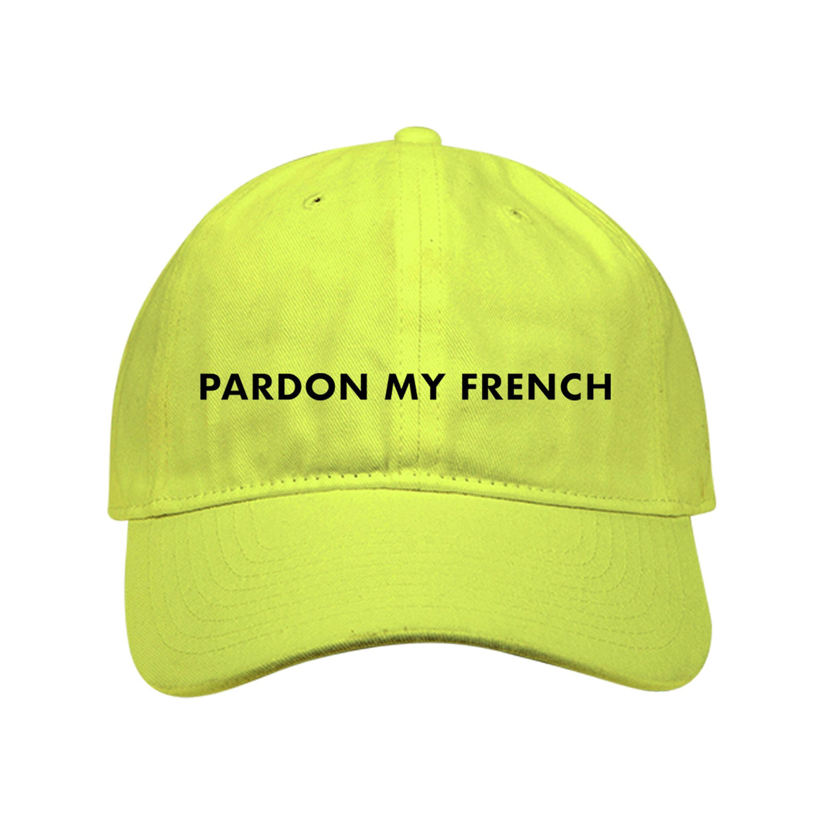 PARDON MY FRENCH NEON YELLOW CAP