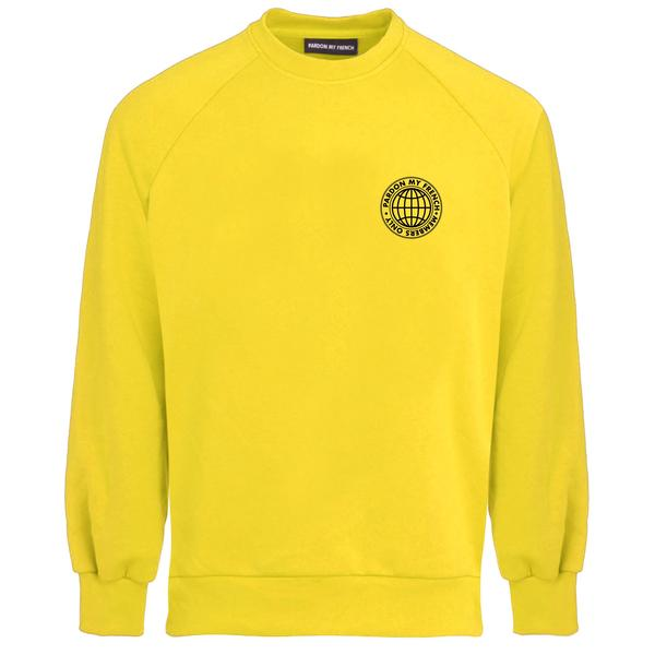 MEMBERS ONLY YELLOW CREW NECK