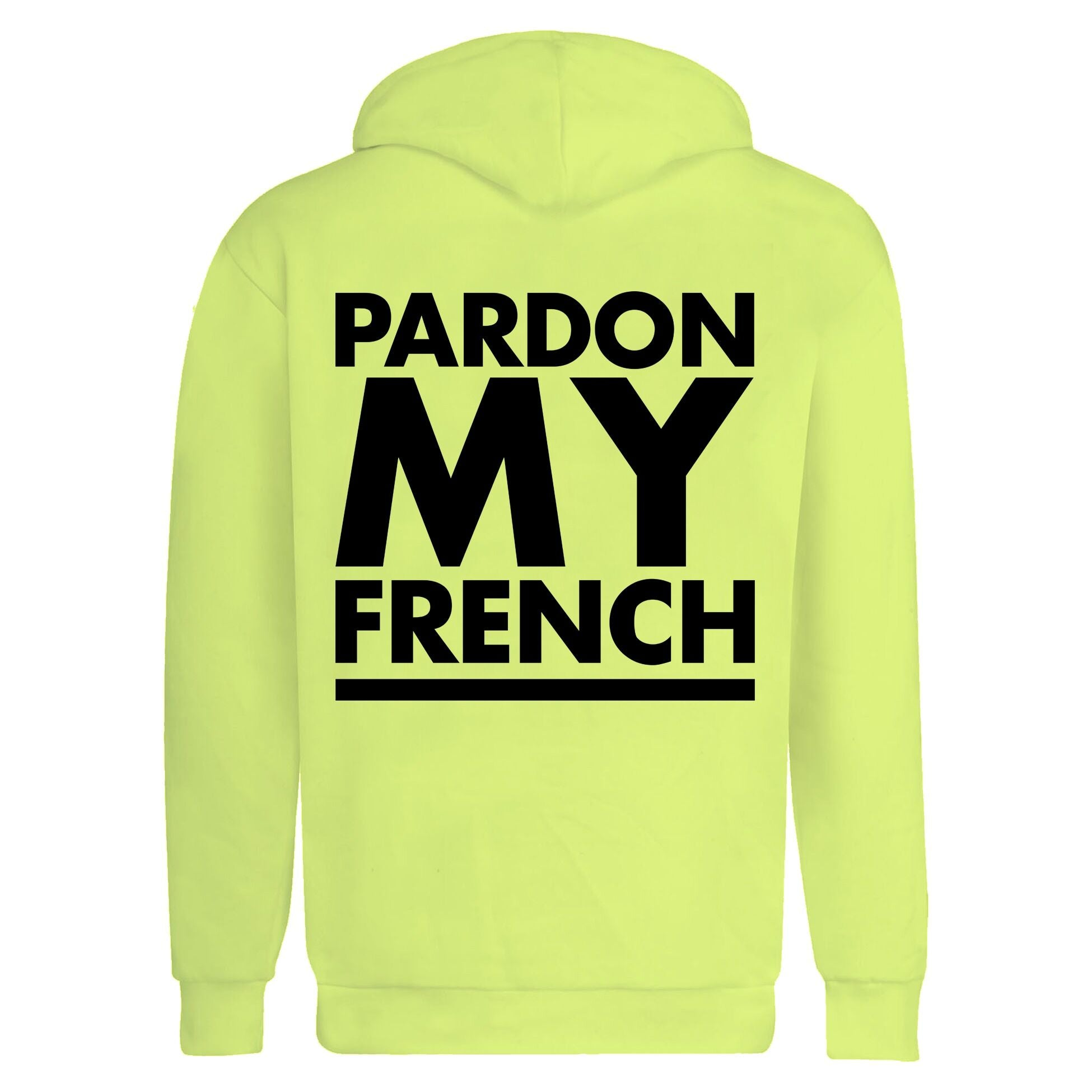 HOODIE PMF CLASSIC LOGO NEON YELLOW