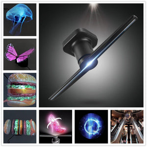 3D Holographic Display Fan with Portable LED Projector