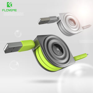 2 in 1 Retractable Phone Cable for iPhone and Micro USB FLOVEME Data Mobile Phone Cable