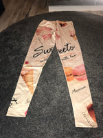 Sweets print leggings Size -M