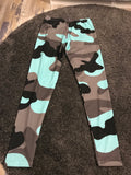 Blue and grey camo leggings Size -M