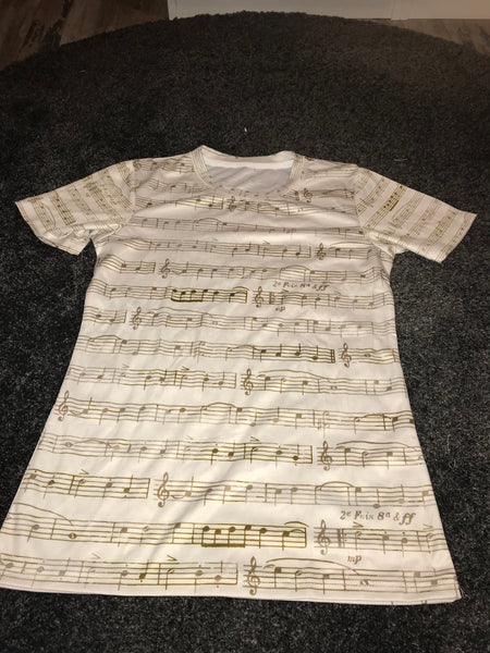 Music notes print T-shirt Size -M