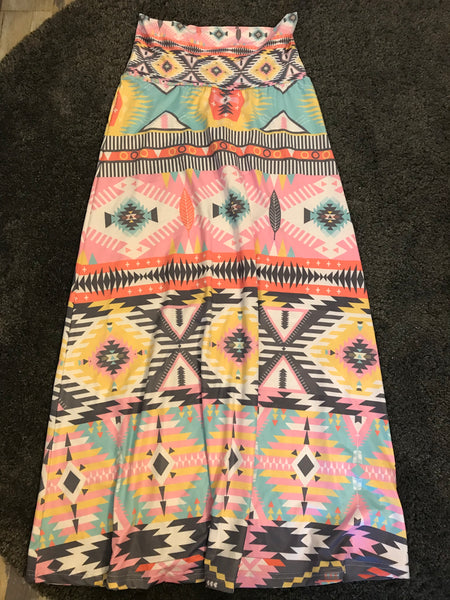 Patterned maxi skirt , Size- L