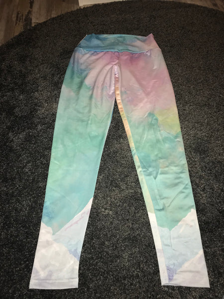 Colorful yoga type leggings Size -M