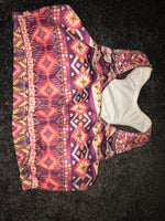 Patterned , Padded sports bra size-M