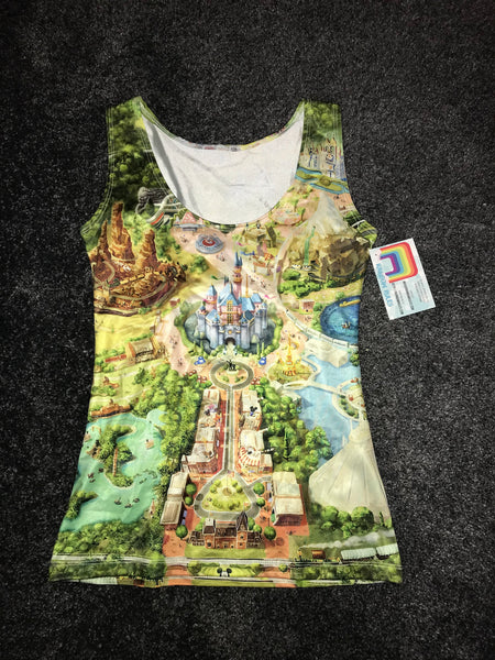Vest / tank top - Disneyland colorful map Size-XS