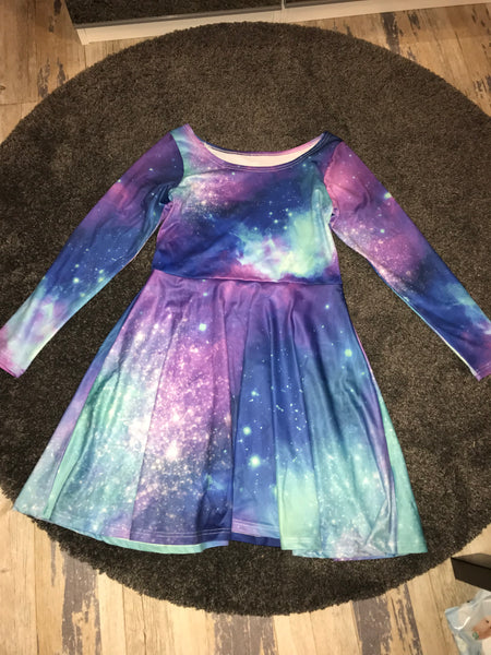 Galaxy print skater dress size -L