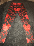 Red Micky mouse print leggings Size -M