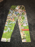 Magic kingdom Disney map 3/4 leggings  Size -S