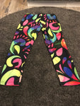 Colorful print 3/4 length leggings size-L