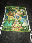 Drawstring tote bag in Disney map print -One size