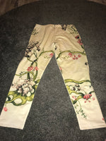 Patterned 3/4 leggings Size -M