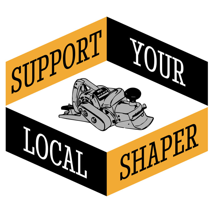 Support Your Local Shaper Hex Sticker