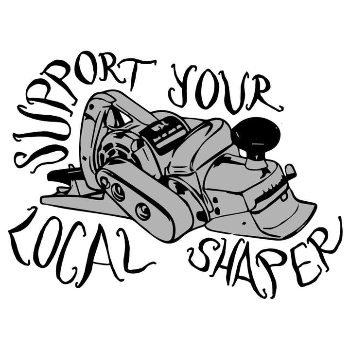 Support Your Local Shaper Script Sticker