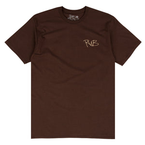 Ryan Burch brown surf t-shirt designed by Ryan Burch