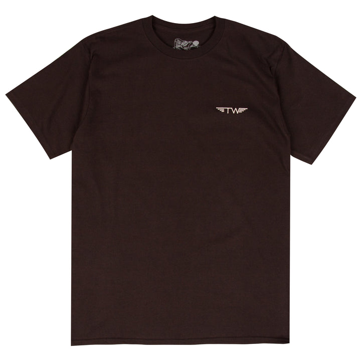 Tyler Warren Surfboards black surf t-shirt designed by Tyler Warren